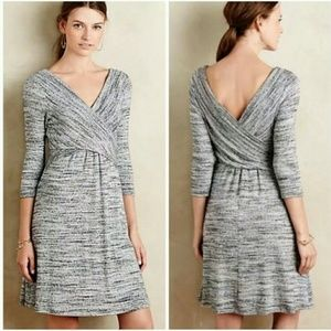 Anthro/Amadi - NWT gray sweater dress - L